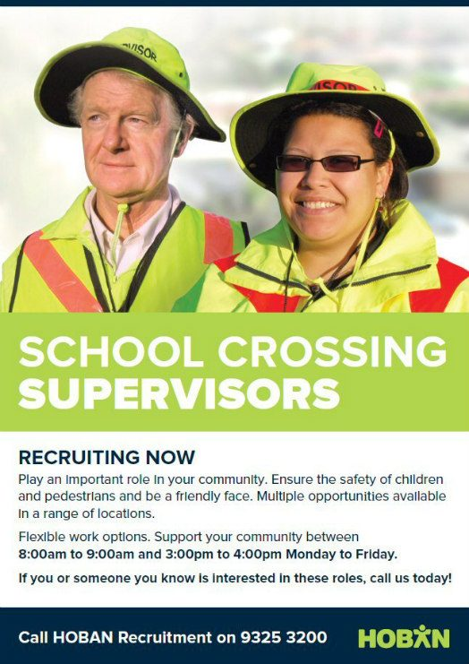 HOBAN recruitment school crossing supervisors