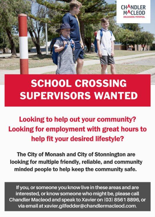 school crossing supervisors jobs
